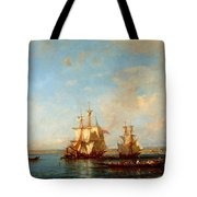 Caiques And Sailboats At The Bosphorus Tote Bag