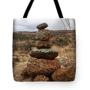 Cairn On The Mountain Tote Bag