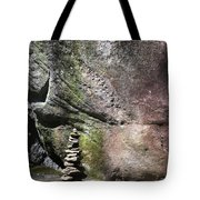 Cairn Rock Stack At Jones Gap State Park Tote Bag by Kelly Hazel