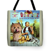 Cairn Terrier Art Canvas Print - The Wizard Of Oz Movie Poster Tote Bag