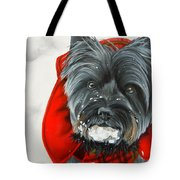 Cairn Terrier In The Snow Tote Bag