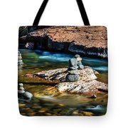 Cairns In The Creek Tote Bag