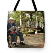 Cajun Man And Accordion Tote Bag