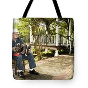 Cajun Man With Accordion Tote Bag