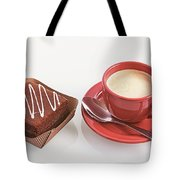 Cake And Cup Of Coffee Tote Bag
