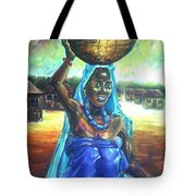 Calabash Lady In Blue Tote Bag