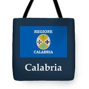 Calabria, Italy Flag And Name Tote Bag