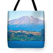Calbuco Volcano Over Llanquihue Lake From Puerto Varas-chile Tote Bag