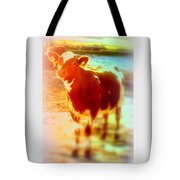 This Calf Has A Hope For A Long And Happy Life But How And When Will It End   Tote Bag