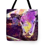 Calf Cow Maverick Farm Animal Farm  Tote Bag