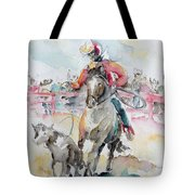 Calf Roping Tote Bag