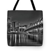 Calgary Peace Bridge Tote Bag