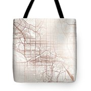 Calgary Street Map Colorful Copper Modern Minimalist Tote Bag