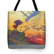California - America's Vacation Land And New York Central Lines - Retro Travel Poster - Vintage Tote Bag