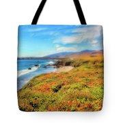 California Coast Wildflowers On Cliffs Ap Tote Bag