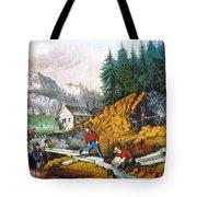 California: Gold Mining Tote Bag