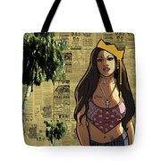 California Hyna Queen Tote Bag