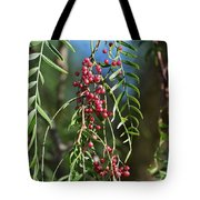 California Pepper Tree Leaves Berries I Tote Bag