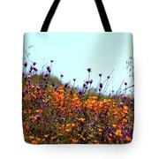 California Poppies And Wildflowers Tote Bag