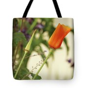 California Poppies In The Garden Tote Bag