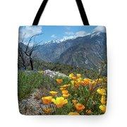 California Poppy And Mountain Panorama Tote Bag