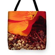 California Poppy And Scallop Shell Tote Bag