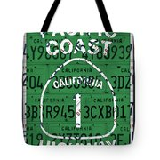 California Route 1 Pacific Coast Highway Sign Recycled Vintage License Plate Art Tote Bag