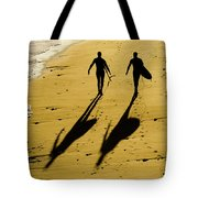 California Surfers On The Beach Tote Bag