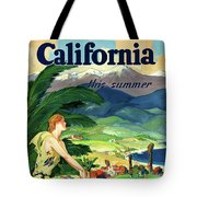 California This Summer Restored Vintage Poster Tote Bag