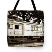 California Western  M 100 Gas Railcar  Skunk Train  Circa 1930 Tote Bag