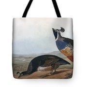 Californian Partridge Tote Bag