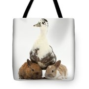 Call Duck And Baby Netherland Tote Bag