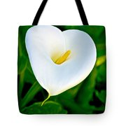 Calla Lily Closeup At Pilgrim Place In Claremont-california Tote Bag