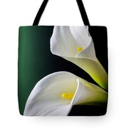 Calla Lily Green Black Tote Bag