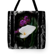 Calla Lily Splash Tote Bag