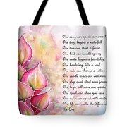 Callas   Poem Tote Bag