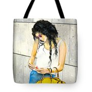 Calling And Smoking Tote Bag