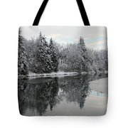 Calm And Frosty Tote Bag