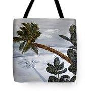 Calm Beach Palm Tote Bag