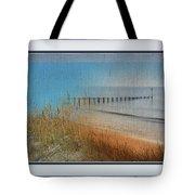 Calm Dawn Tide Montage Tote Bag