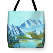 Calm Mountain Stream Tote Bag