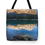 Calm O'hara Lake And Reflection At Sunrise Tote Bag