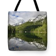 Calm Reflection On String Lake Tote Bag