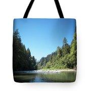 Calm Sandy River In Sandy, Oregon Tote Bag
