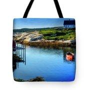 Calm Water At Peggys Cove #3 Tote Bag