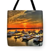 Calm Waters Bull River Marina Tybee Island Savannah Georgia Art Tote Bag