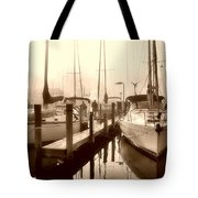Calmly Docked Tote Bag