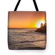 Caloundra Beach Sunset Tote Bag