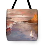 Calpe At Sunset Tote Bag by Miki De Goodaboom
