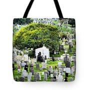 Calvary Cemetery From Above Tote Bag